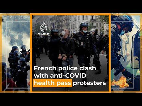 French police clash with anti-COVID health pass protesters  | Al Jazeera Newsfeed