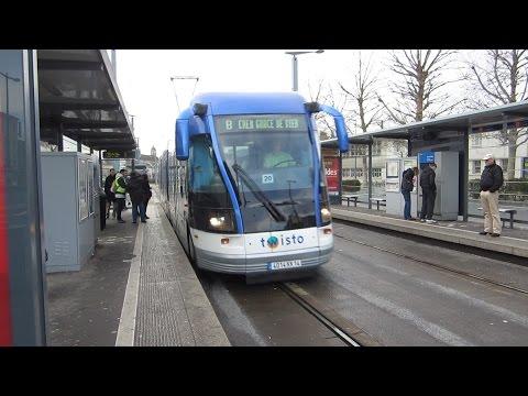 [Caen] Tramway sur pneu Twisto - Gare SNCF
