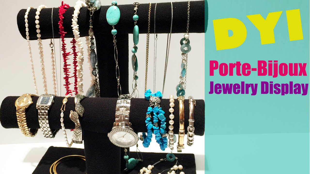 Diy comment fabriquer un pr sentoir bijoux jewelry storage display youtube - Comment faire un presentoire a bijoux ...