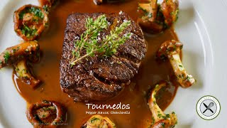 Tournedos, Pepper Sauce, Chanterelle – Bruno Albouze – THE REAL DEAL