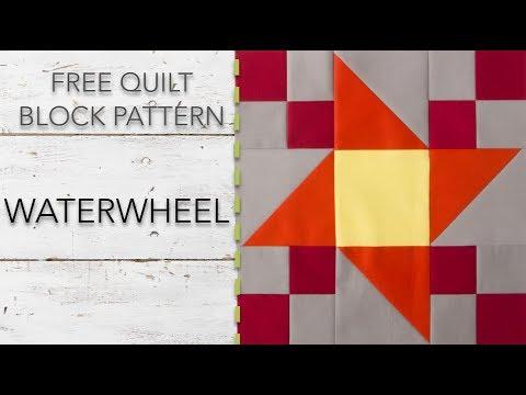 FREE Quilt Block Pattern: Waterwheel