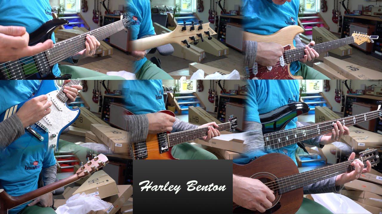 8 Harley Benton Guitars - Unboxing and 1st Impression - YouTube