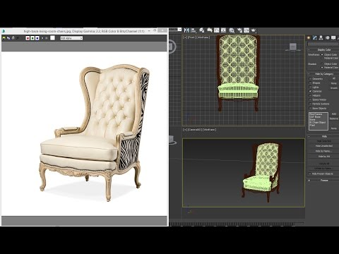 3dsmax tutorial - living room luxury chairs