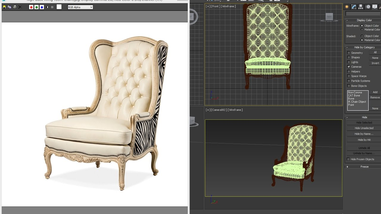 3dsmax Tutorial   Living Room Luxury Chairs