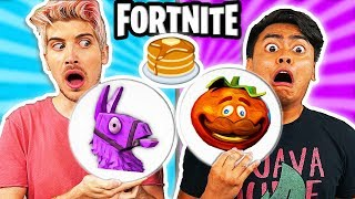 FORTNITE Pancake Art Challenge (ft. Joey Graceffa)