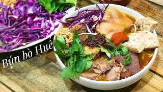 How to Make Bún bò Huế from Scratch 2019 *SECRET INGREDIENT! Vietnamese Spicy Noodle Soup