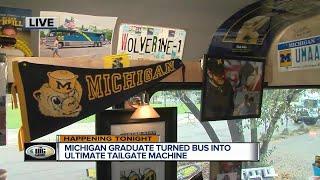 University of Michigan graduate turned bus into ultimate tailgate machine