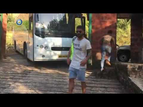 Indian cricket team trekking at pune