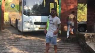 Indian cricket team trekking at pune