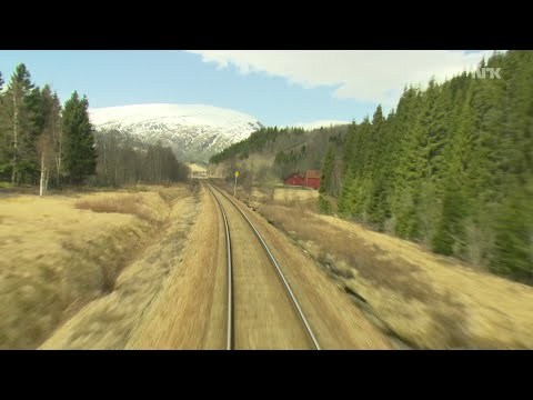 [9:56 Hours] Train Journey to the Norwegian Arctic Circle, SPRING [1080HD] SlowTV