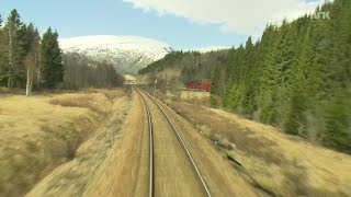 Train Journey to the Norwegian Arctic Circle, SPRING [1080HD] SlowTV