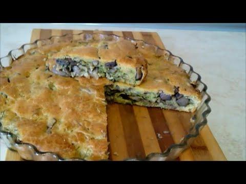 Рецепт пирога с капустой и грибами Быстрый заливной пирог