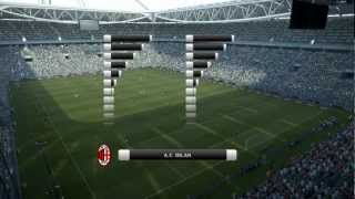 PES 2012 - Juventus vs AC Milan PC Gameplay Max Settings HD