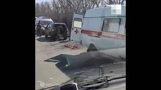 Челябинск: маршрутка попала в ДТП на улице Героев Танкограда  #shorts