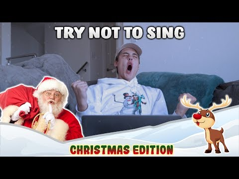 TRY NOT TO SING ALONG CHALLENGE! (CHRISTMAS EDITION)