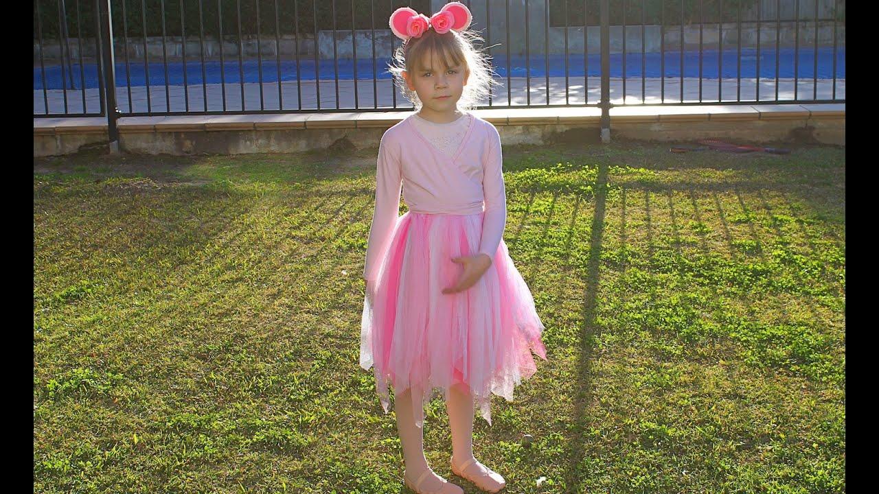 How To Create An Angelina Ballerina Dress Up Youtube Jolie Clothing Rhey Tulle Skirt