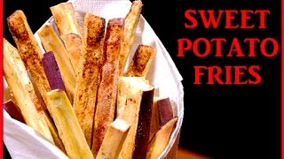 How To Make Sweet Potato Fries (recipe) スイートポテトの揚げないフライ