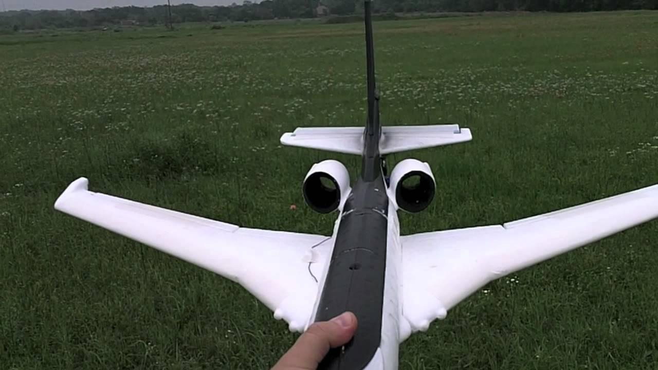 Maiden Flight Again Air Hogs Glider To RC Conversion CRASH