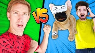 CWC vs DANIEL's DOG Puppet Douglas! I Pretended to be in a Star Wars Battle Royale 24 Hour Challenge