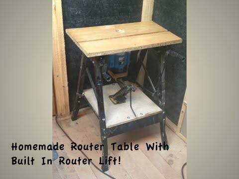 How to build a router table with a simple router lift youtube how to build a router table with a simple router lift keyboard keysfo Images