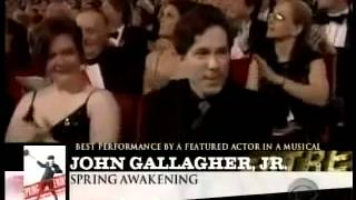 John Gallagher, Jr. wins 2007 Tony Award for Best Featured Actor in a Musical