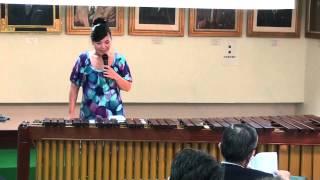 2012年10月13日(土)東京糸魚川会・総会 での マリンバ演奏 マリンバ奏...