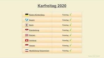 Karfreitag 2020 - Datum - Feiertage Deutschland 2020