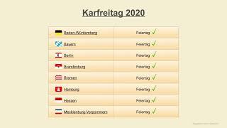 Karfreitag 2020 - feiertage deutschland 2020► mehr dazu: https://www.schulferien-deutschland.info/feiertage► jahreskalender: https://amzn.to/2foan2l (werbun...