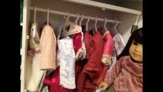 American Girl Closet Tour     Plus: Doll Shoe Organizers