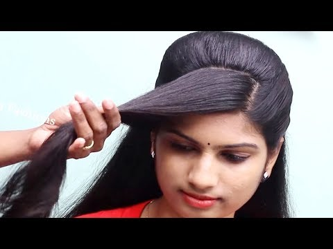 wedding guest Hairstyle for Saree|Hairstyles for party|Indian Hairstyles for Saree #hairstyles thumbnail