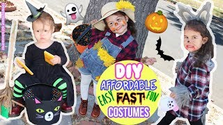 DIY Halloween Kids Costumes EASY DIY Witch, DIY Scarecrow, DIY Wolf ANYONE can make! 4KGoPro5
