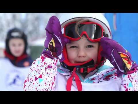 Skiing after a big snowfall in Madonna di Campiglio