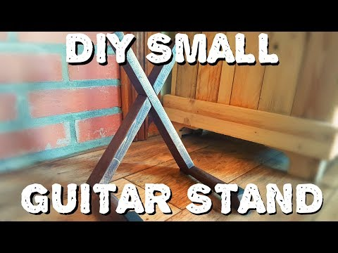 Small Wooden Guitar Stand