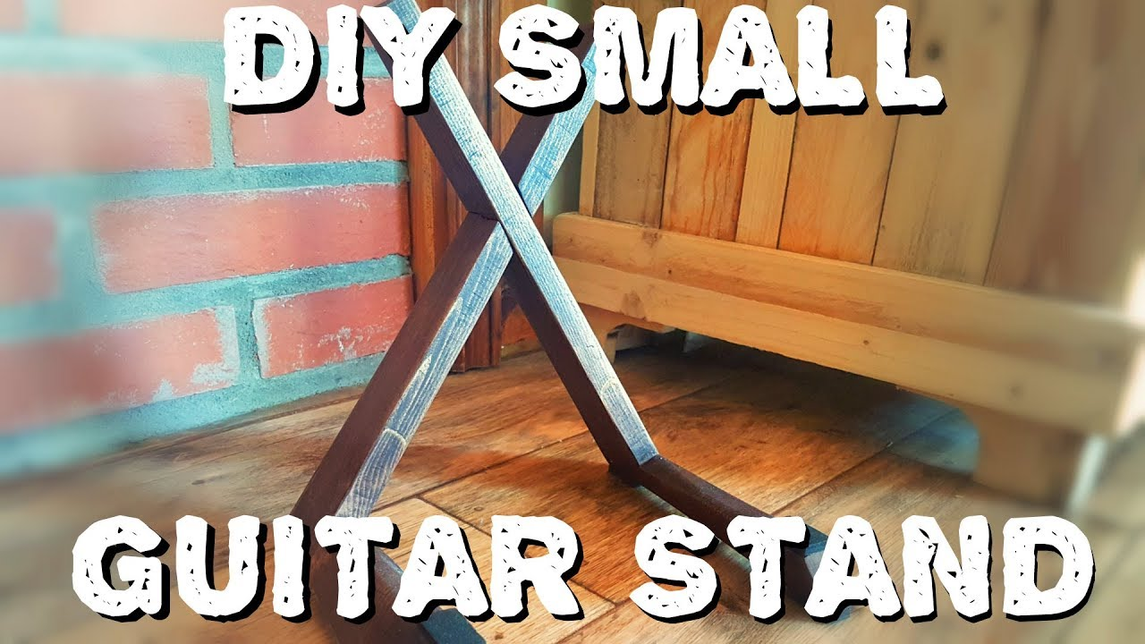 Small Wooden Guitar Stand Youtube