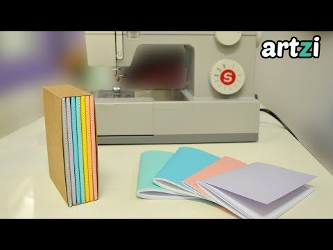 Bookbinding with a Sewing Machine + Paper Slipcase DIY