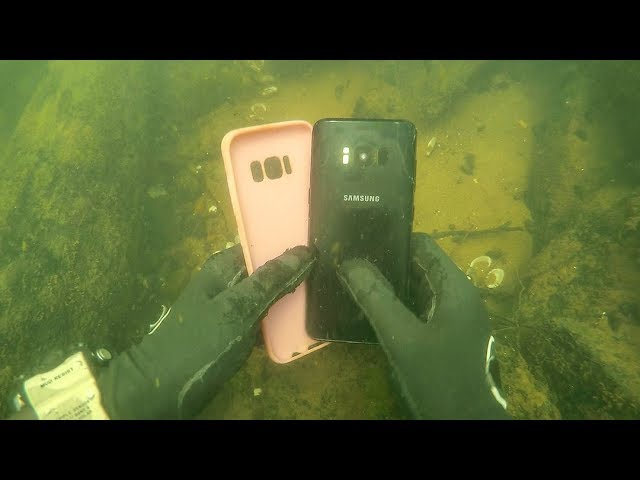 found-galaxy-s8-underwater-in-river-while-scuba-diving-vlogging-underwater