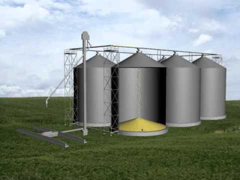 Grain System Layouts Horizontal Grain Pump Youtube