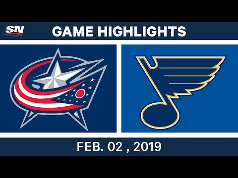 NHL Highlights   Blues vs. Blue Jackets - Feb. 2, 2019