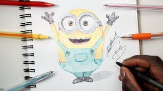 SKETCH SUNDAY #6 How To Draw Bob (Minions) - Despicable Me - DeMoose Art