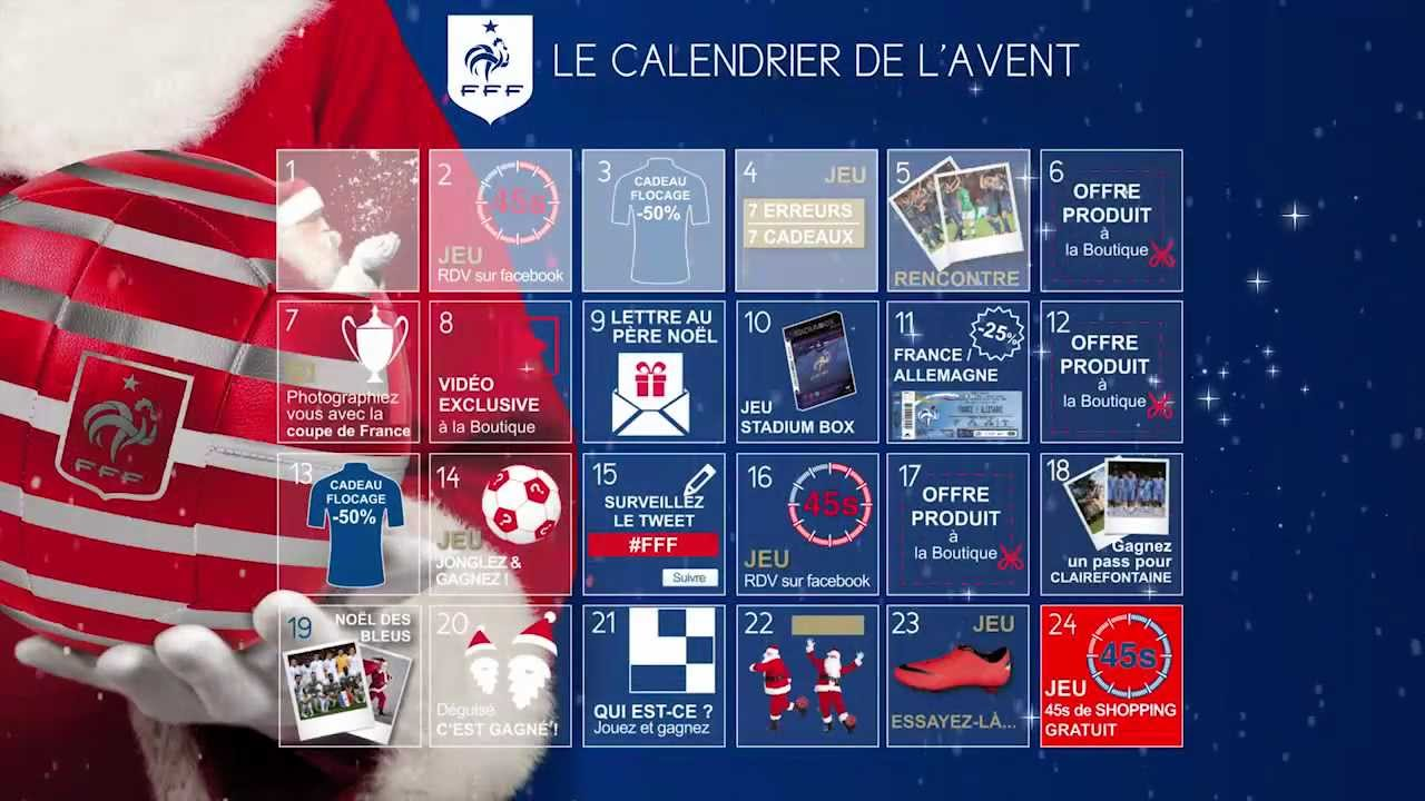 calendrier de l 39 avent 2012 boutique fff youtube