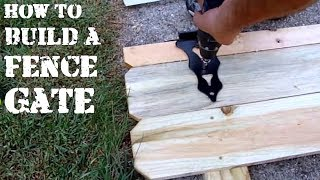 How To Easily Build A Wooden Fence Gate Yourself