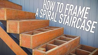 How We Frame A Spiral Staircase || Dr Decks