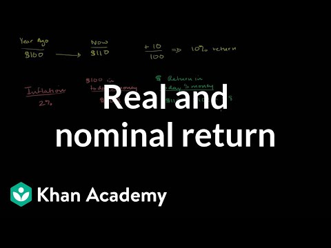Real and nominal return | Inflation | Finance & Capital Markets | Khan Academy