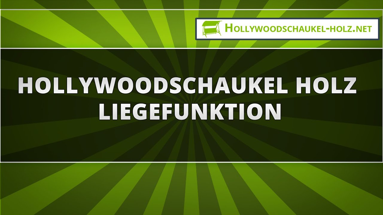 hollywoodschaukel holz liegefunktion youtube. Black Bedroom Furniture Sets. Home Design Ideas