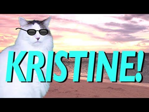 HAPPY BIRTHDAY KRISTINE EPIC CAT Happy Birthday Song YouTube