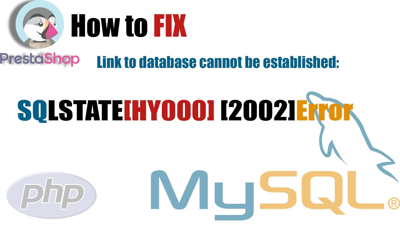 how to fix Link to database cannot be established: SQLSTATE[HY000] [2002]Error – Part 01