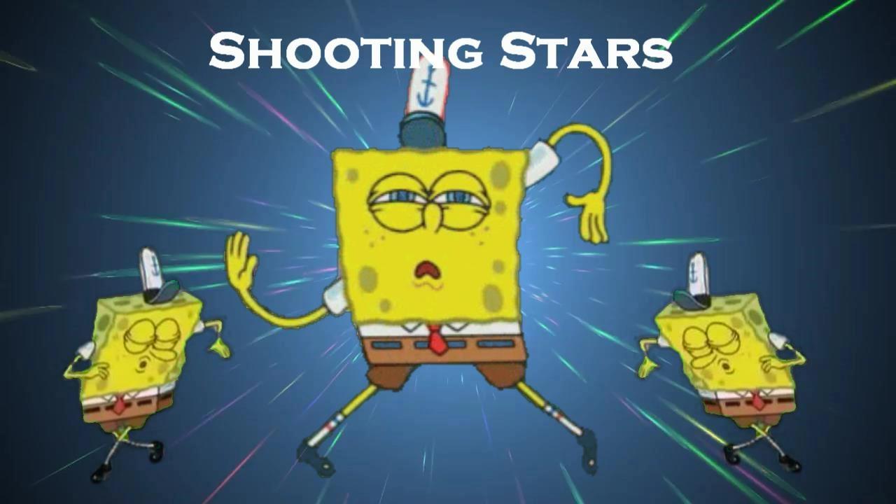 Shooting stars meme spongebob dance