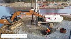Travaux de construction de la passerelle de Saint-Pardoux - Janvier 2020