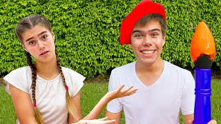 Nastya and Artem funny story about outdoor games