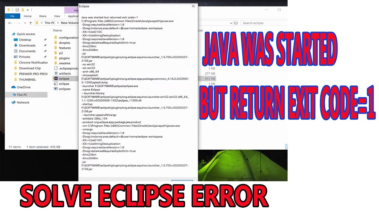 [SOLVED]Eclipse: Java was started but returned exit code=1 and exit code=13